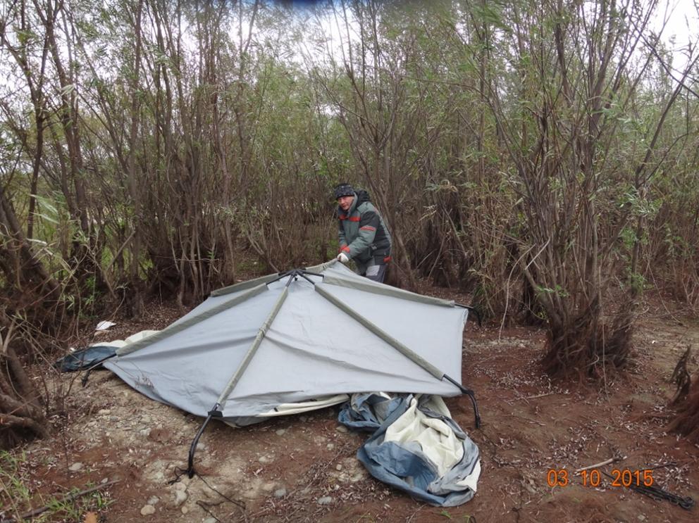Развертывание палатки фото 5